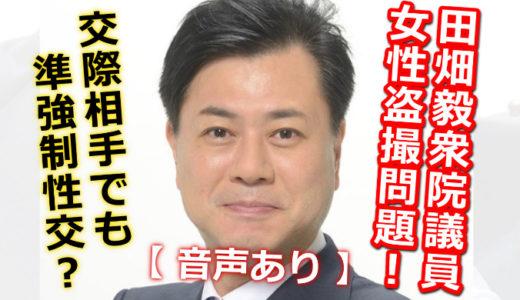 【音声】田畑毅の女性盗撮問題!交際していても泥酔相手は準強制性交の罪?