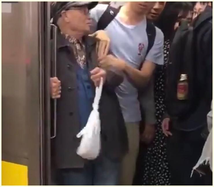 動画,名古屋市,地下鉄,何駅,栄駅,妨害行為,名前,顔画像,迷惑,老害