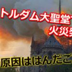 ノートルダム大聖堂の火災の原因ははんだごて?現在は全焼して消火!テロの可能性は?