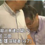 【荒川拓雄】品川目黒駅前で傘刺し失明させた犯人の顔画像!職業や動機は?