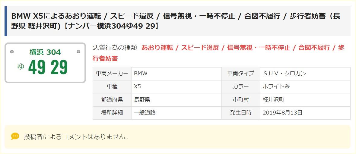 金村竜一,顔画像,家族,妻,職業,現在,長野,群馬,東京,常磐道あおり運転BMW
