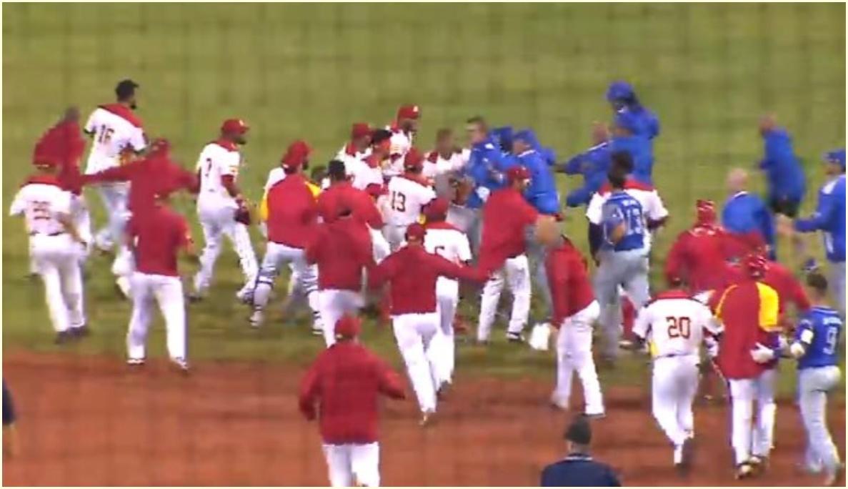 乱闘動画,なぜ,イタリア,スペイン,処分,野球東京五輪予選