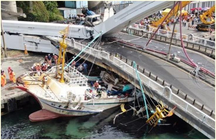 台湾,南方澳大橋,崩落,原因,施工した業者,宜蘭県南方澳漁港,動画