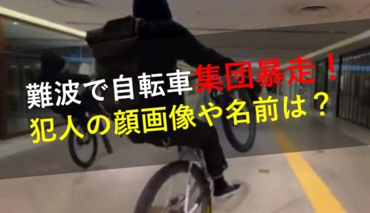 動画|難波集団暴走!犯人の顔画像や名前は?自転車チームMTBファントム!