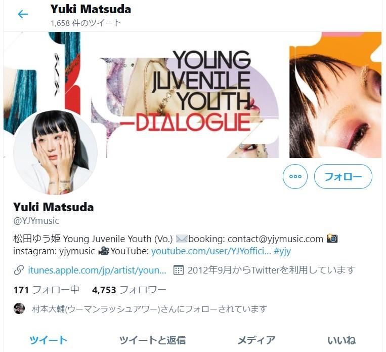 松田ゆう姫さんのTwitter